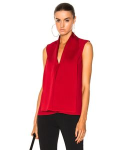 Victoria Beckham | Satin Back Crepe Sleeveless Blouse In Size