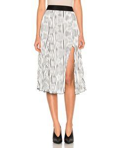 Prabal Gurung | Wavy Rib Jersey Pleated Skirt