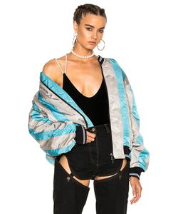 Y / Project | Striped Bomber Jacket
