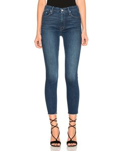 Mother   High Waisted Looker Ankle Fray Crop