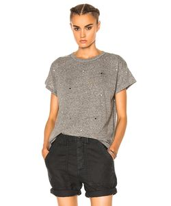 The Great | Boxy Embroidered Dots Tee