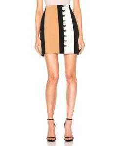 David Koma | Loops Metal Balls Front Detailing Mini Skirt