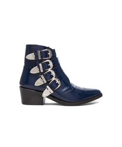 Toga Pulla | Leather Buckle Booties