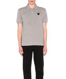 Comme Des Garçons Play   Cotton Polo With Black Emblem