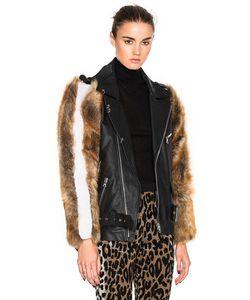 Sandy Liang   Rivington Coat With Lamb Fur