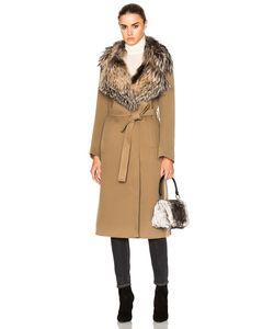Yves Salomon | Fox Fur Collar Cashmere Coat