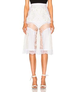 Rodarte | Lace And Laser Cut Skirt