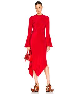 Juan Carlos Obando | Diamond Long Sleeve Bias Dress
