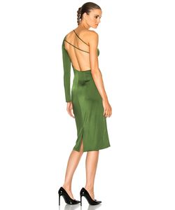 Cushnie Et Ochs   Claudia Gloss Jersey One Sleeve Dress