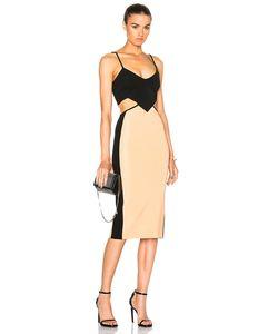 David Koma | Contrast Cut Out Dress