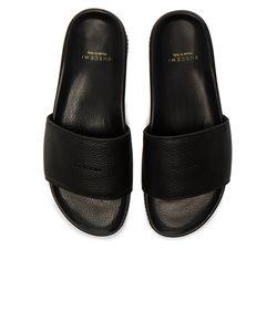 Buscemi   Leather Classic Slide Sandals