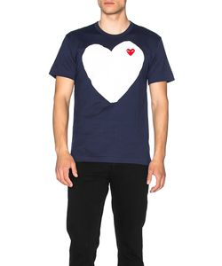 Comme Des Garçons Play   Red Emblem Cotton Heart Tee