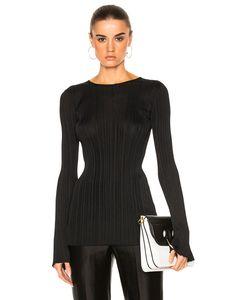 Calvin Klein Collection | Elodie Variegated Rib Long Sleeve Tee