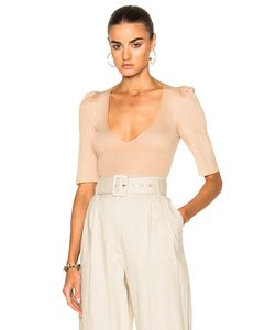Ryan Roche | Bodysuit With Structured Puff Sleeves