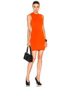 Victoria Beckham   Compact Jersey Sleeveless Fitted Mini Dress