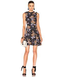 Victoria Beckham   Cotton Print D-Ring Mini Dress