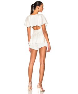 Zimmermann | Wrap Playsuit In Size Also
