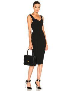 Victoria Beckham   Dense Rib Trompe Loeil Fitted Dress