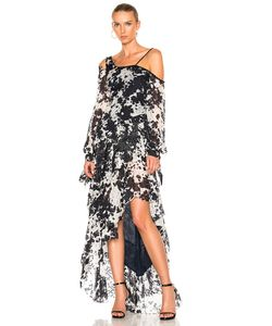 Jonathan Simkhai | Silk Tie Dye One Shoulder Gown