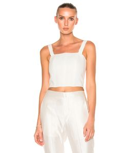 Calvin Klein Collection | Laura Herringbone Linen Top