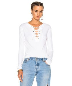 Enza Costa   Lace Up Top In