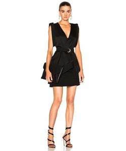 Mugler | Satin Technical Cady Belted Dress