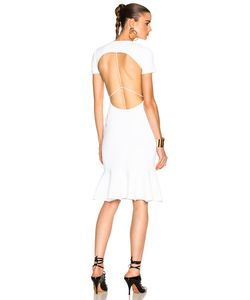 Esteban Cortazar | Peace Sign Short Sleeve Dress
