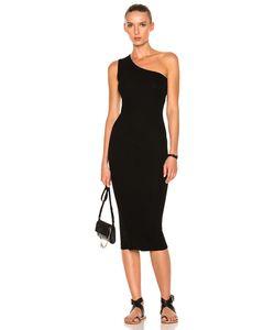 Enza Costa | Rib One Shoulder Midi Dress