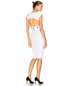 Victoria Beckham | Dense Rib Jersey Open Back Fitted Dress In .