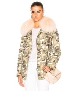 Army Yves Salomon | Cotton Jacket With Raccoon Rabbit Fur