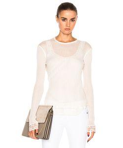 Helmut Lang | Long Sleeve Lingerie Knit