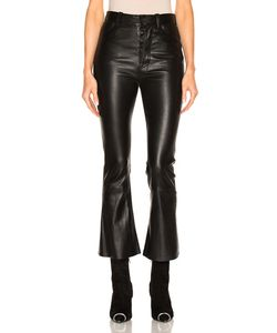 Unravel | Crop Flare Leather Pants