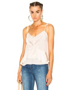 Ulla Johnson | Suzi Top In Neutrals. Size Also