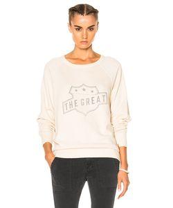 The Great | College Badge Sweatshirt In Vanilla