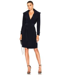 Norma Kamali | Double Breasted Trench Wrap Dress