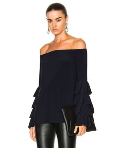 Norma Kamali | Ruffle Off Shoulder Top