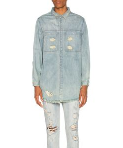 Stampd | Distressed Denim Shirt In Size Also In