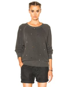 The Great | College Multi Dot Embroidery Sweatshirt