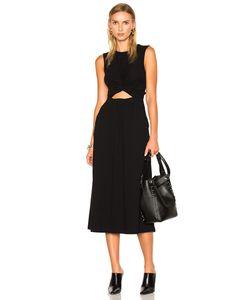 T by Alexander Wang   Cotton Jersey Twist Front Muscle Dress