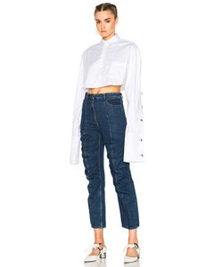 Y / Project | Cropped Button Down Shirt