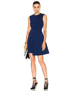 Victoria Beckham   Dense Rib Sleeveless Drape Mini Dress