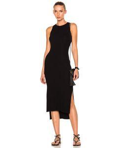 Enza Costa | Rib Sleeveless Side Slit Midi Dress