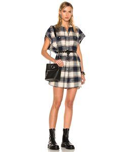R13 | For Fwrd Exclusive Cut Off Sleeve Shirt Dress