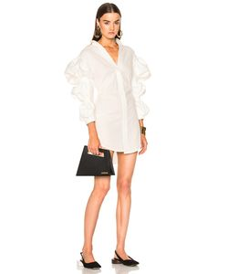 Jacquemus | Ruched Sleeve Dress