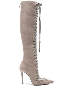 Zimmermann | Lace Up Suede Long Boots