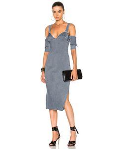 Victoria Beckham   Bicolor Rib High Slit Dress