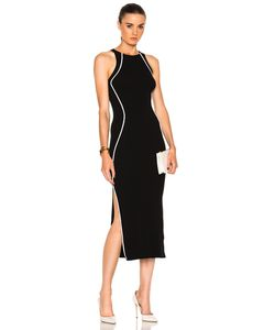 Mugler | Contrasted Line Knit Dress