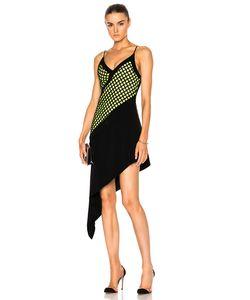 David Koma | V-Cut Asymmetrical Hem Underlayer Dress