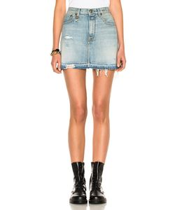 R13 | For Fwrd Exclusive High Rise Destroyed Mini Skirt