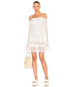 Jonathan Simkhai | Ruffle Crochet Long Sleeve Mini Dress